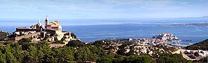 Calvi, Haute-Corse - Image: Calvi N D de La Serra panorama