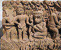 Cambogia, architrave con storie di rama, lakasmana, sugriva e valin, da vat baset, stile di baphuon, xi sec. 06.JPG