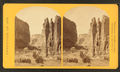 Camp Beauty, Cañon de Chelle; walls 1,200 feet high, width of cañon at this point about one fourth of a mile, by O'Sullivan, Timothy H., 1840-1882.png