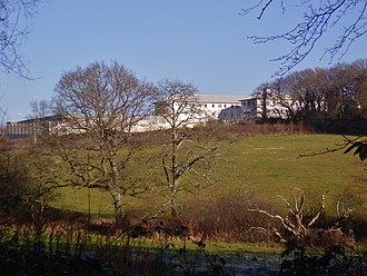 HM Prison Camp Hill - View of the former prison from Parkhurst Forest.