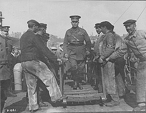 Sam Hughes - Hughes visiting the Front in August 1916