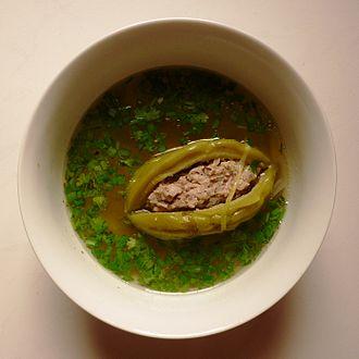 Melon soup - Image: Canh khổ qua
