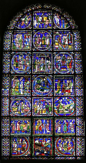 Architecture of the medieval cathedrals of England - Canterbury Cathedral, The Poor Man's Bible window.