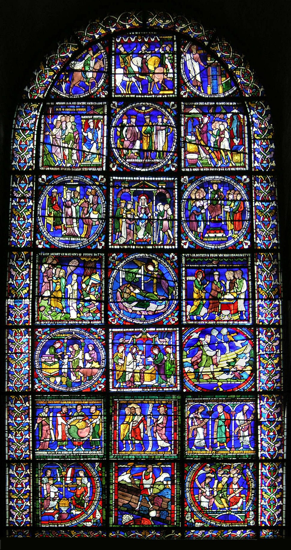 Canterbury Cathedral 020 Poor Mans Bbible Window 01 adj