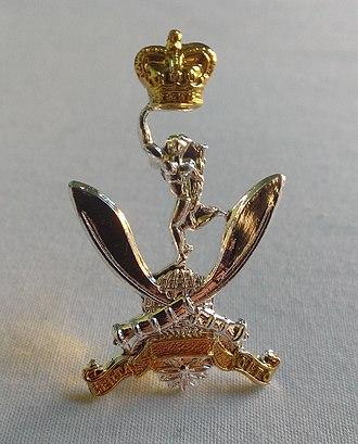 Queen's Gurkha Signals - Cap badge of the Queens Gurkha Signals