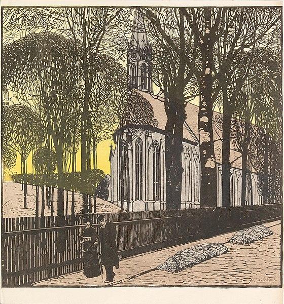 File:Carl Moll Kirche St Michael in Heiligenstadt.jpg