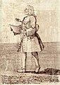 Carlo Tessarini, caricature de Pier Leone Ghezzi, 1740.jpg