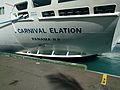 Carnival Elation Stern name (31879819715).jpg