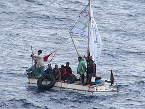 Carnival Liberty - Cuban refugees rescued by the ship