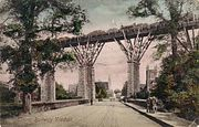 Carvedras Viaduct, built in 1859 by Isambard Kingdom Brunel. It was replaced by a stone viaduct in 1904.