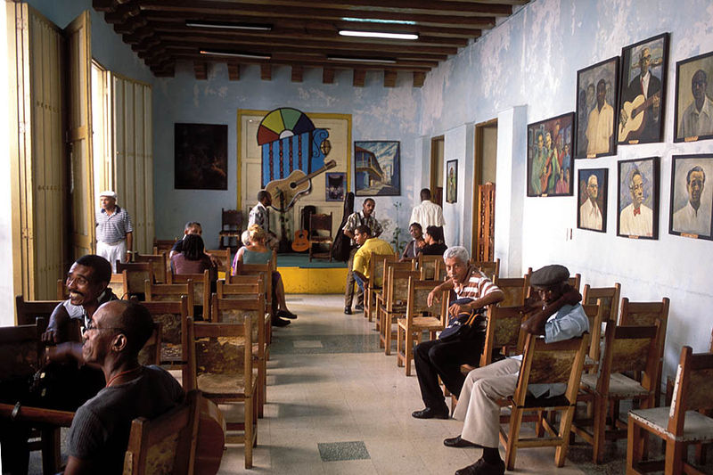Casa de la Trova, a local musical house at Santiago de Cuba.