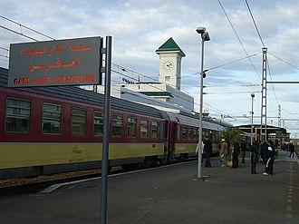 ONCF - The platform at the Casablanca Voyageurs station.