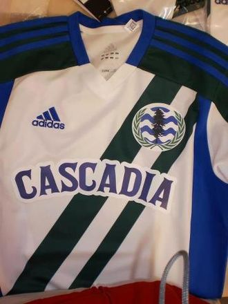 Cascadia official soccer team - Image: Cascadia Kit Jersey
