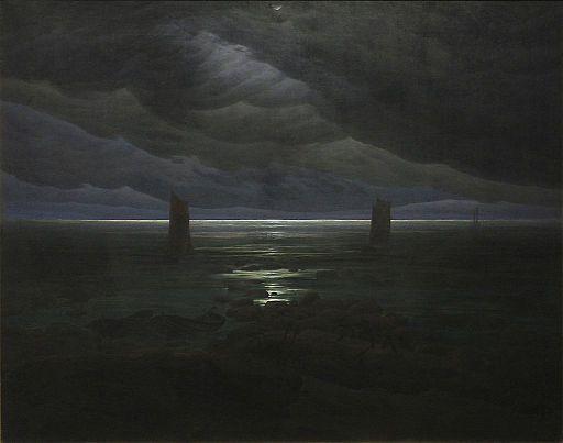 Caspar David Friedrich - Küste bei Mondschein 2