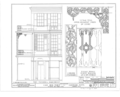 Cast Iron Grilles and Railings, Mobile, Mobile County, AL HABS ALA,49-MOBI,231- (sheet 1 of 2).png