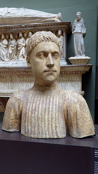 Piero di Cosimo de' Medici - Cast of an original bust of Piero