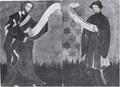 Castello di Fenis, affreschi, da acquarello di D Andrade, fig 141, Nigra.tiff