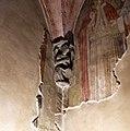 Castiglione olona, palazzo branda, interno, cappella di san martino, peducci di maestro caronese, del 1420 ca. 01.jpg