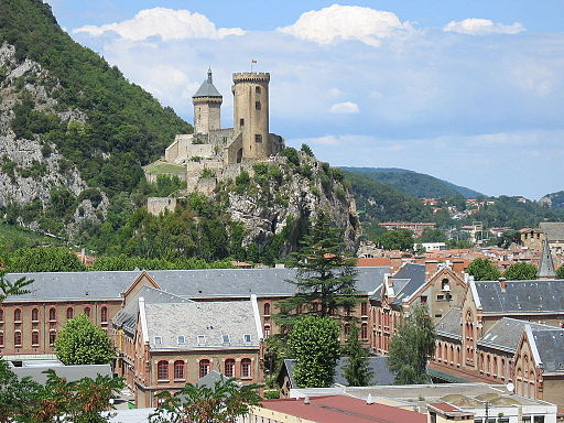 Castle and city of foix