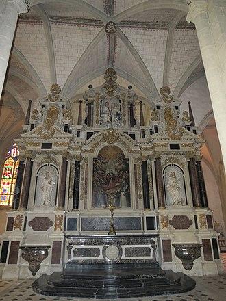 Pierre Corbineau - The large altarpiece of the Sainte-Trinité de Laval.