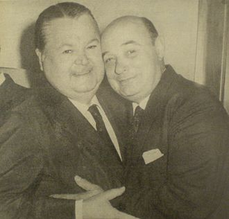 Cátulo Castillo - Cátulo (right) with Aníbal Troilo in 1975