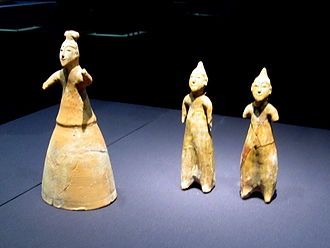 History of Beijing - Celadon figurines from the Wei Kingdom of Three Kingdoms Period, discovered in Balizhuang of Haidian District, now located in the Haidian Museum.