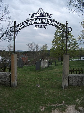 Temple, New Hampshire - Image: Cemetery in Temple, New Hampshire