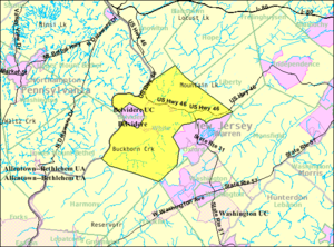 White Township, New Jersey - Image: Census Bureau map of White Township, New Jersey
