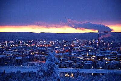 Rovaniemi på vintern