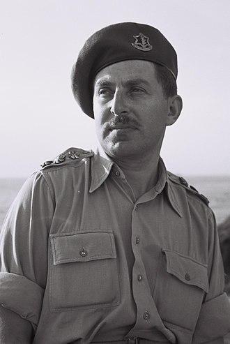 Chaim Herzog - Chaim Herzog in the IDF, 1954