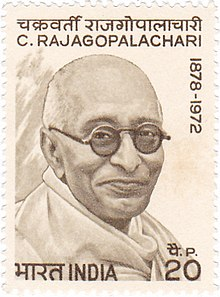 Chakravarthi Rajagopalachari 1973 stamp of India.jpg