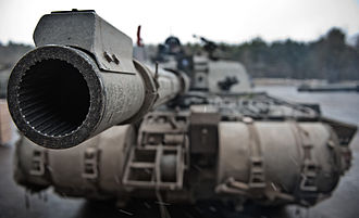 Challenger 2 - Close-up of muzzle showing rifling