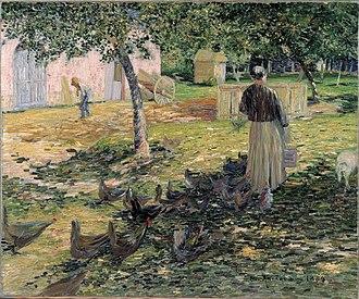 Charles Angrand - Image: Charles Angrand, Feeding the chickens