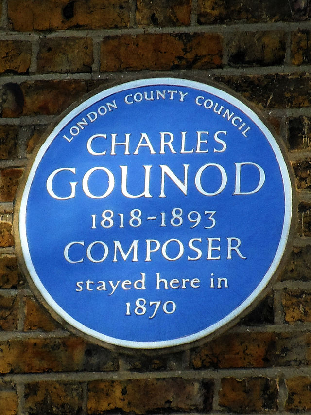 Charles Gounod blue plaque - Charles Gounod 1818-1893 Composer stayed here in 1870
