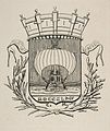 Charles Meryon, Coat-of-Arms Symbolic of the City of Paris with the motto - It Rocks But Does Not Sink, 1854.jpg