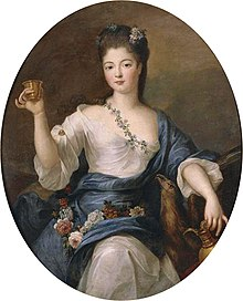 Charlotte Aglaé d'Orléans depicted as the goddess Hébé attributed to Pierre Gobert.jpg