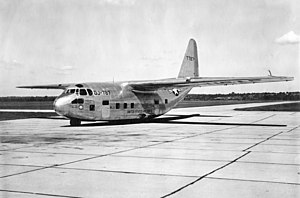 Fairchild C-123 Provider - A Chase XG-20 glider, which was later converted to the XC-123A prototype.