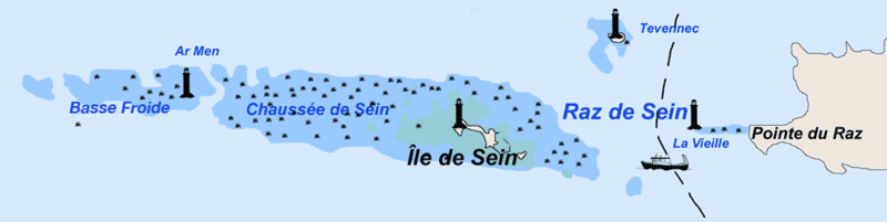 Location of Ile de Sein in the Atlantic Ocean Chausseedesein.png