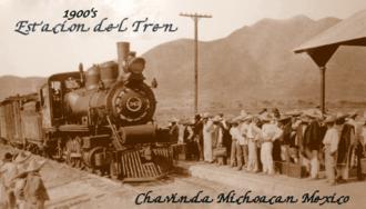 Chavinda - Image: Chavinda Michoacan Mexico train station circa 1900