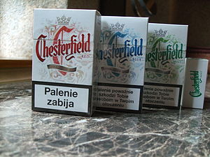 Chesterfield (cigarette) - Three packs of Polish Chesterfield cigarettes