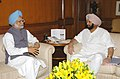 Chief Minister of Punjab, Capt. Amarinder Singh called on the Prime Minister Dr. Manmohan Singh in New Delhi on February 14, 2006.jpg