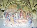 Chiostro grande di smn, lato sud 04 giovanni balducci, s. antonino entra a firenze come arcivescovo, 1581-84.JPG