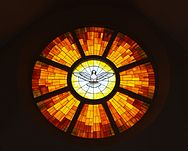 Christ the King Catholic Church (Ann Arbor, Michigan) - interior, Holy Spirit window.jpg