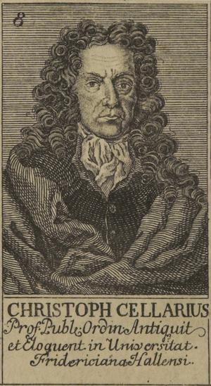Christoph Cellarius - Christoph Cellarius.
