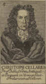 Christoph Cellarius (aus: Johann Christoph von Dreyhaupt: Beschreibung des Saalkreises, 1750)