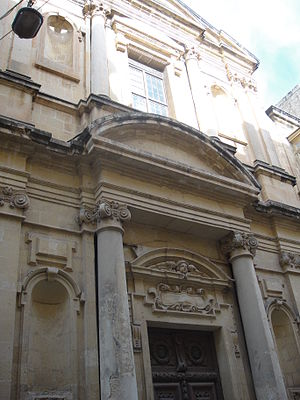 Church of Our Lady of Pilar, Valletta - Image: Church of Our Lady of the Pillar Valletta