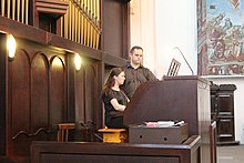 Church of the Holy Cross in Wroclaw 2019 XXVI Johannes Brahms Organ and Chambermusic Festival Anna Romanek and Lukasz Romanek organ concert P03.jpg