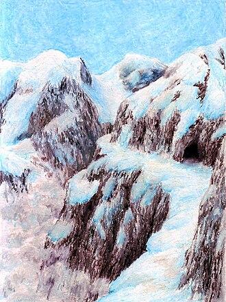 Misty Mountains - Cirith Forn en Andrath, illustration by Matěj Čadil