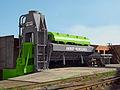 Cisaille hydraulique 1250 t Henschel sur site.jpg