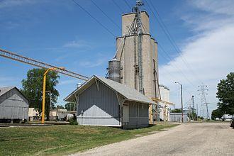 Cisco, Illinois - Cisco old train depot and grain elevator